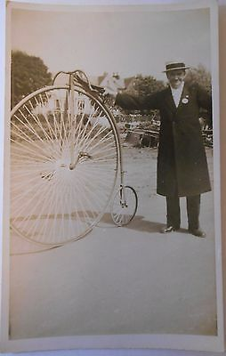 Vintage c1937 RP Postcard Penny Farthing Bicycle Dumfries Procession Scotland