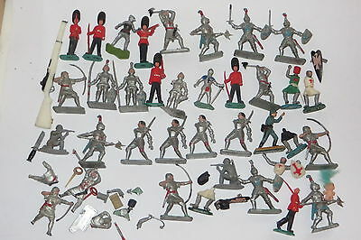 vintage plastic toy soldiers lot CRESCENT KNIGHTS TIMPO CEREMONIAL ROYAL GUARD