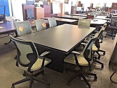 CONFERENCE TABLE 8ft L w/ 8 CONFERENCE CHAIRS SET