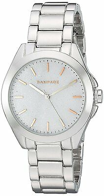 Rampage Women's Watch Glitter Dial Silver Toned Bracelet Quartz Watch RP1068SL