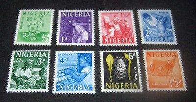 Q.E.II 8 MINT NOT HINGED NIGERIA STAMPS FROM 1961, CAT. £6,,,89p START