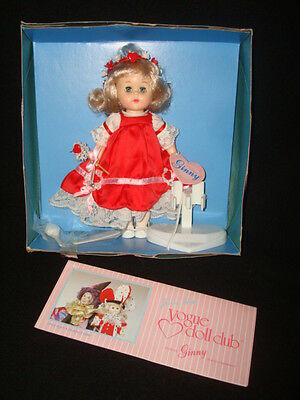 Vintage Ginny Vogue Doll In Box 1988 Poseable Sleep Eyes Red Dress Adorable!