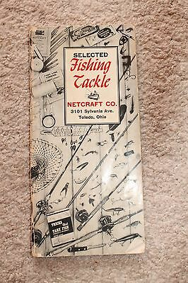 Vintage 1955 Fishing Tackle Catalog Netcraft Co Toledo, OH