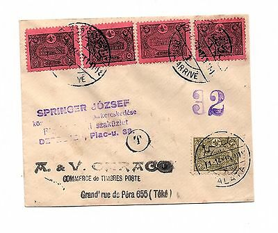 Turkey Ottoman Empire - SET OF STAMPS ON COVER - TAXED  LOT ( TUR 53)
