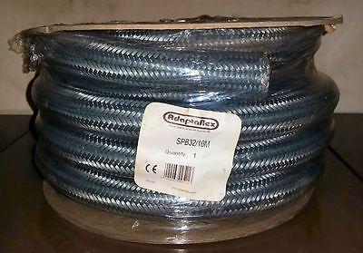 10m Adaptaflex SPB 32 Adaptasteel PVC+Galvanised Steel Overbraid Conduit IP54