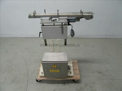 """Flat Belt Conveyor 2.25"""" X 33"""" ( Used and Tested )"""