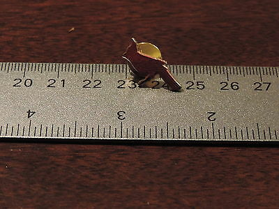 Red Cardinal Bird Lapel Hat Pin 2C