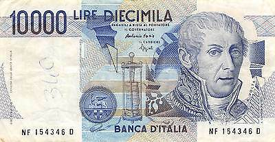 Italy 10,000 Lire  3.9.1984  Series NF-D  Circulated Banknote jE14J