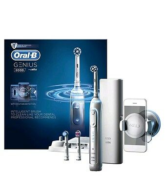 Oral-B Genius 9000 Electric Rechargeable Bluetooth Toothbrush by Braun - White