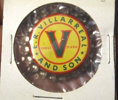 1940s Uncrimped Villarreal & Sons Soda Cola Cork Bottle Cap