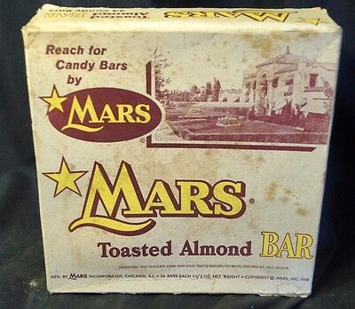 Vintage 1950s Mars Toasted Almond Candy Bar Counter Top Advertising Display Box