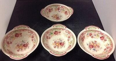"""4 Johnson Brothers WINCHESTER 7"""" Lugged Cereal Bowls - HTF"""
