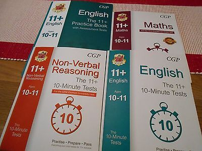Set of 4 CGP 11+ Practice Pack to cover English, Maths & Non-Verbal Reasoning