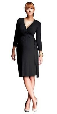 Isabella Oliver Black Maternity Wrap Dress (size 2, excellent condition)