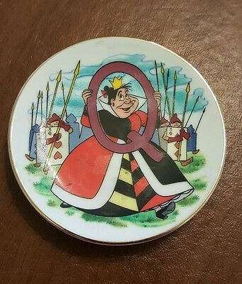"Disney's Alphabet ""q"" Mini Plate-Queen Of Hearts From Alice In Wonderland"