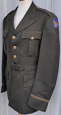 1943 WWII US AAF Army Air Force Officers Olive Drab Tunic Jacket Dry Cleaned