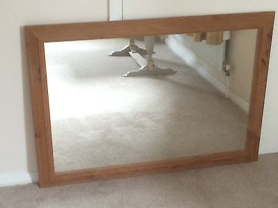 Large Antique Style Solid Pine Mirror