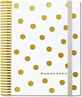 Gold Dots Large address book 6 inches x 8 inches