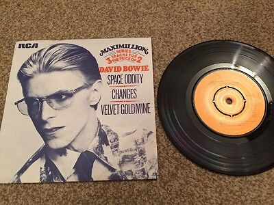 "David Bowie - Space Oddity / Changes / Velvet Goldmine - 7"" Picture Sleeve"