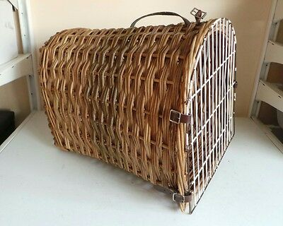 Large Wicker Travel Vet Pet Carrier Portable Box Cat Kitten Dog Puppy