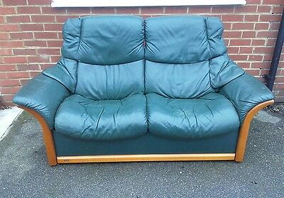Ekornes stressless 2 seater leather recliner sofa