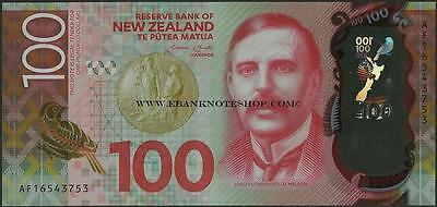 New Zealand,100 Dollars,P195,B141,2016 ,Uncirculated,Polymer@ EBS