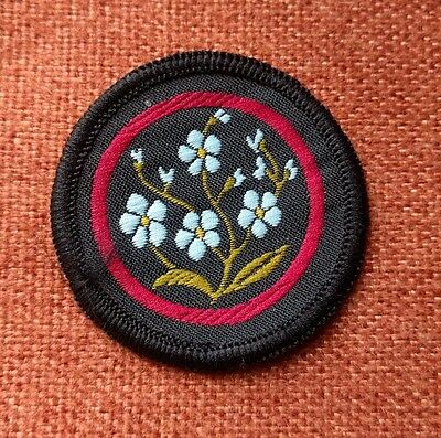 Girl Guide Patrol Badge Forget-Me-Not