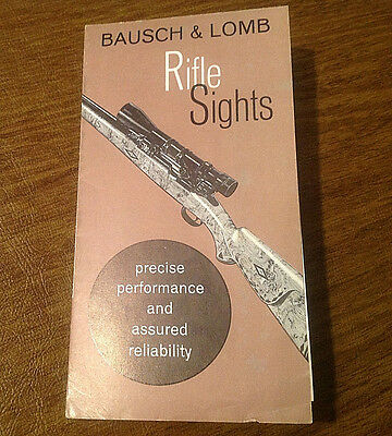 Vintage c1950 Bausch & Lomb Rifle Sights Brochure Catalog Advertisement