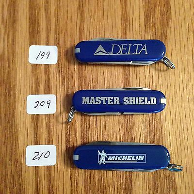 Lot of 3 New Victorinox Classics Delta, Master Shield and Michelin #199