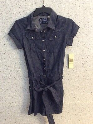Girls Kids Guess Jeans Denim Rompers Size 16 NWT Shorts Romper