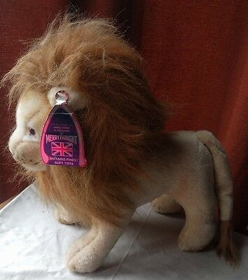 Vintage MERRYTHOUGHT Lion Soft Toy. Approx 33 cm tall. 30cm Nose to tail.