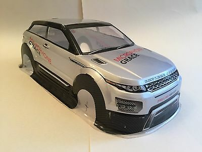 Range Rover Evoque 1/10 Body Shell RC Car Drift Off Road 200mm Silver Fast Post