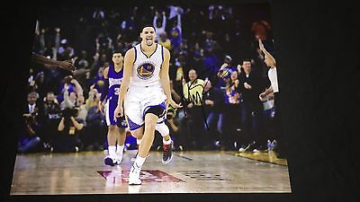 Klay Thompson Signed 11x14 Golden State Warriors Photo EXACT PROOF