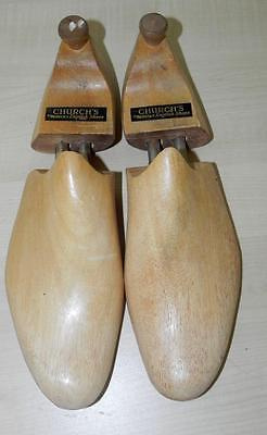 Pair of Vintage Church Wooden Shoe Trees Size 10