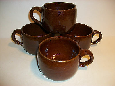 4 Cornelison Bybee Ky Since 1845 Pottery 6 Ounce Cups Mugs Circle Impressed Mark