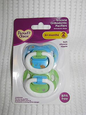 Parents Choice Pacifier Set Silicone 6 Mo+