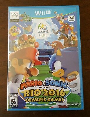 Mario & Sonic at the Rio 2016 Olympic Games. Nintendo Wii U. BRAND NEW/SEALED.