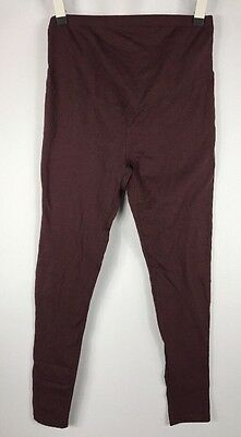 """Old Navy Maternity """"Wined Down"""" Burgundy Full Panel Cotton Leggings size Small"""