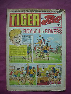 Tiger & Jag UK Paper Comic 1969-71 IPC Magazines X5 issue Job Lot VGC/FN