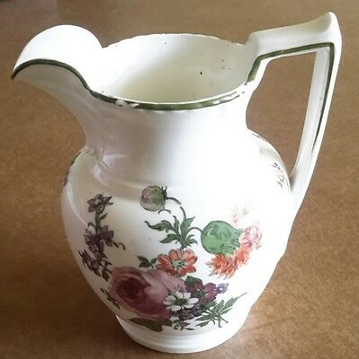 VINTAGE ROYAL DOULTON JUG colour slightly rubbed around top A/F