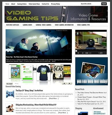 * VIDEO GAMING * niche website business for sale with AUTOMATIC CONTENT!
