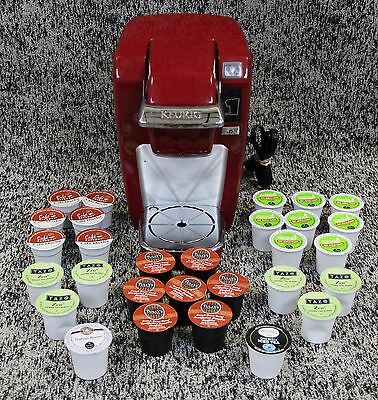 Keurig K10 MINI Plus Coffee Maker Red Brewing System w/ Coffee Pods