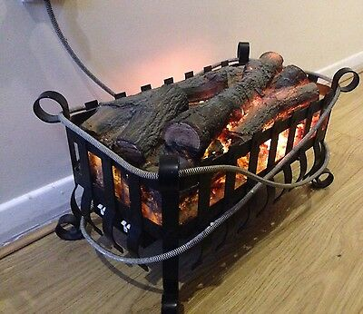 Log effect electric fire place