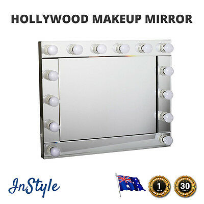 NEW Hollywood Makeup Mirror 14 Soft 3 Watt LED Lights Large Size WALL MOUNT ONLY