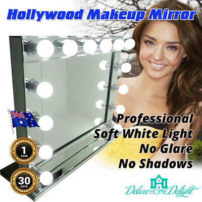 NEW Hollywood Makeup Mirror 14 Soft LED Lights, All Mirror, Wall Mount Only