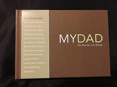 """My Dad"" Memory Book - Don't Put This Off!! Collect Memories Now!"