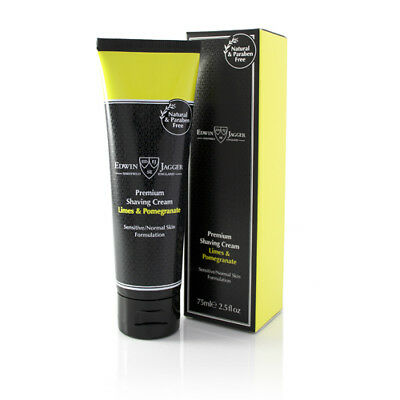 Edwin Jagger Premium Shaving Cream, Limes & Pomegranate, 75 ml Tube
