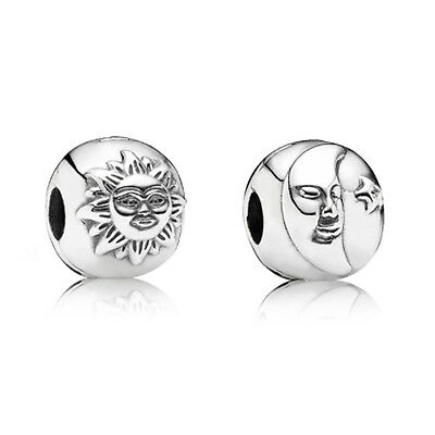 New Authentic Pandora 791208CZ Sterling Silver Night & Day 1 Clip Box Included