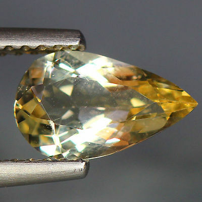 1.04 Cts_Wow Unbelivable Brazilian Gemstone_100 % Natural Heliodore Yellow Beryl