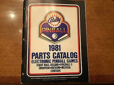 Bally Pinball 1981 Pinball Parts Catalog